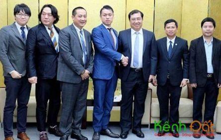 Chủ tịch UBND TP. Đà Nẵng Huỳnh Đức Thơ tiếp các nhà đầu tư Nhật Bản. Ảnh: Công thông tin điện tử Đà Nẵng