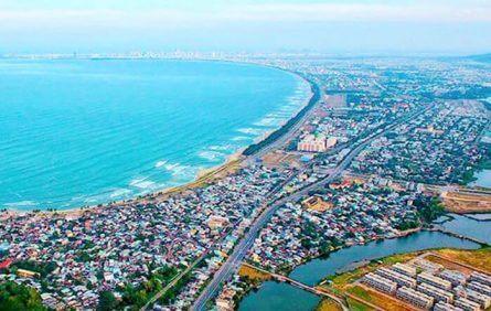 Bãi biển cuối đường Nguyễn Tất Thành dự kiến sẽ xây bãi tắm công cộng đẳng cấp.