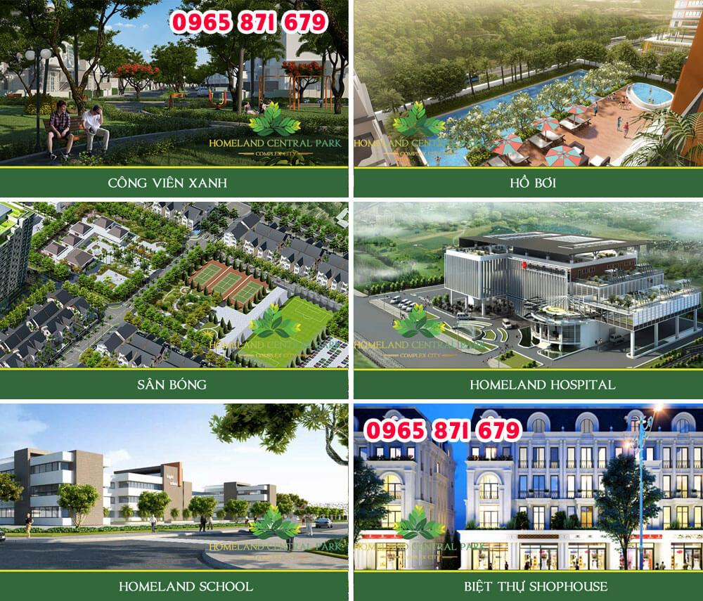 Tiện ích Dự án Homeland Central Park Đà Nẵng