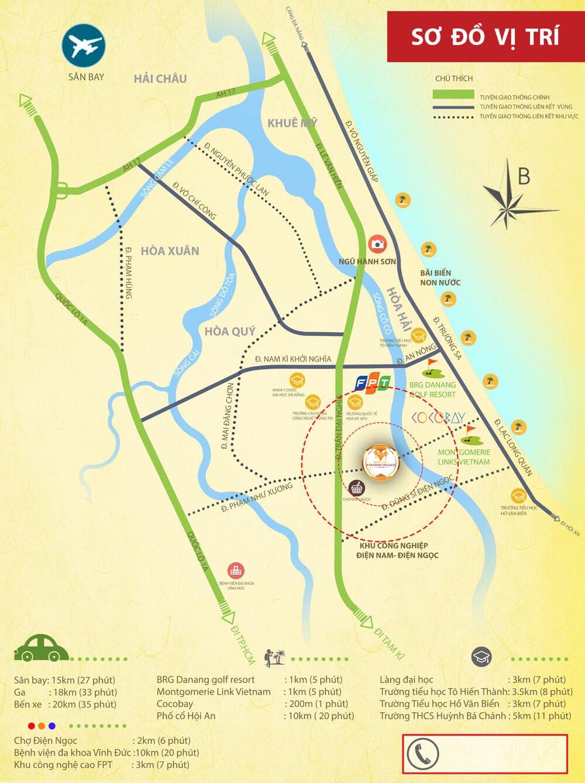 vị trí dự án Homeland Paradise Village