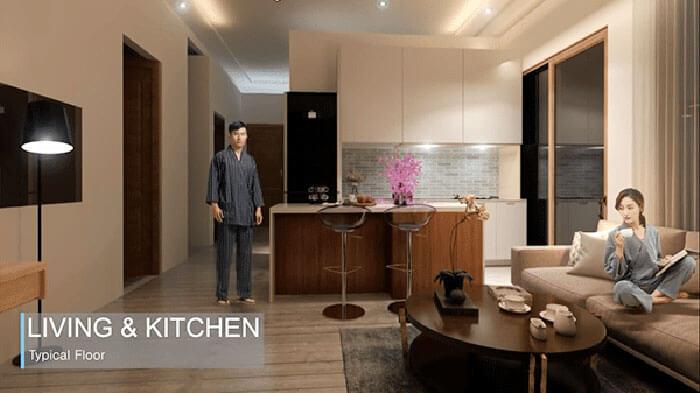 Center Point Da Nang Living Kitchen