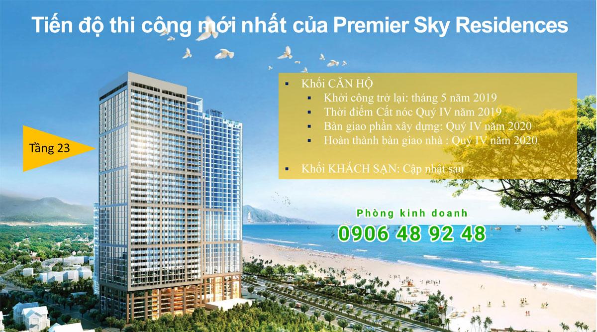 Tiến độ Thi Công Premier Sky Residences Đà Nẵng