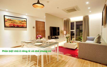 Phân biệt nhà ở riêng lẻ và nhà chung cư