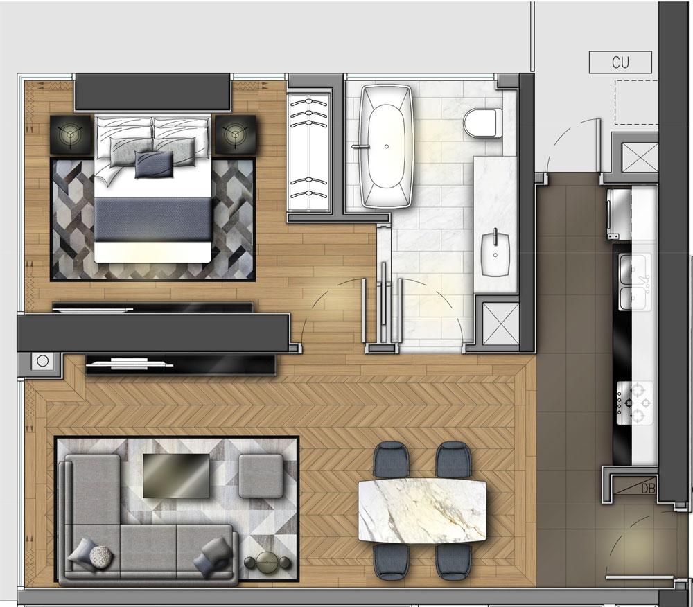 Căn hộ 1 Phòng ngủ Wyndham Soleil Đà Nẵng