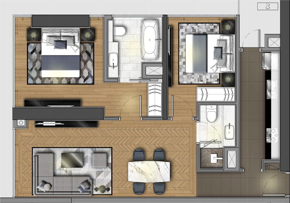 Căn hộ 2 Phòng ngủ Wyndham Soleil Đà Nẵng
