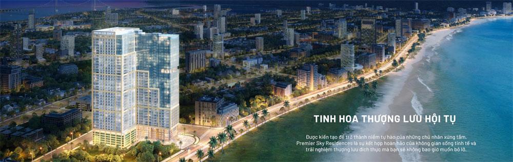 Căn hộ cao cấp Premier Sky Residences tọa lạc trên cung đường biển Võ Nguyên Giáp, thành phố Đà Nẵng.