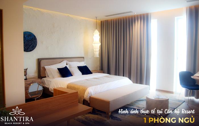 Hình ảnh thực tế căn hộ mẫu 1 phòng ngủ tại Shantira Beach Resort & Spa