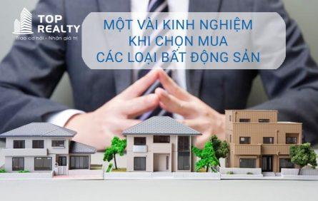 Mot Vai Kinh Nghiem Khi Chon Mua Cac Loai Bat Dong San