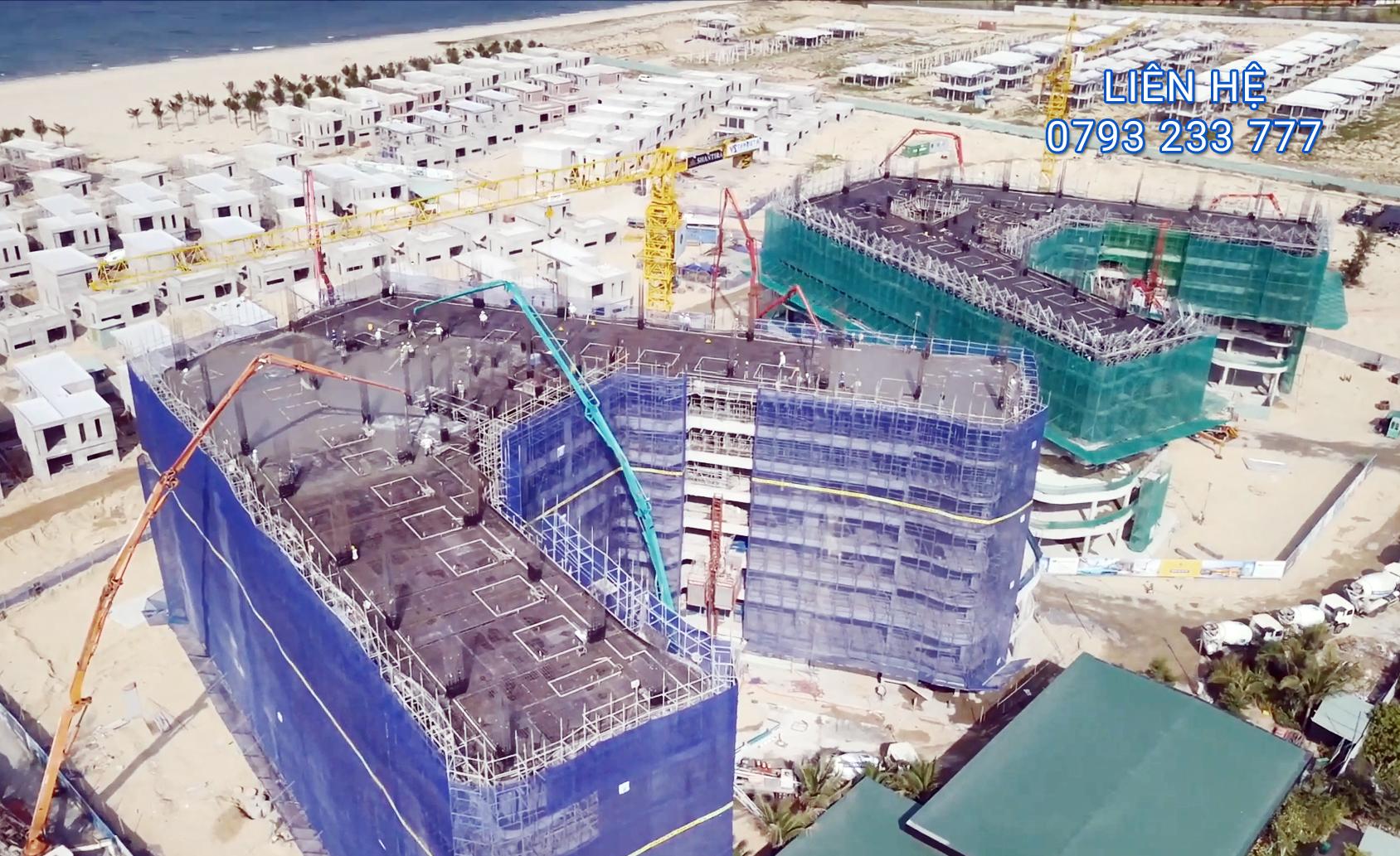 Tiến độ xây dựng Shantira Hội An