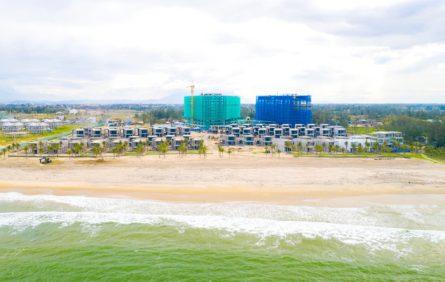 Khu vực bờ biển tại Shantira không bị ảnh hưởng nhiều bởi bão – Hình ảnh chụp ngày 18/11/2020