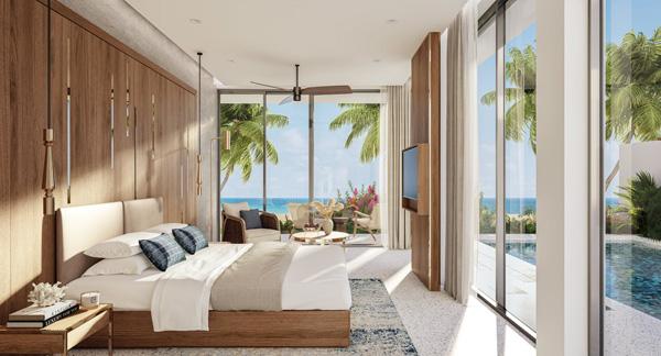 Phối cảnh biệt thự biển Shantira Beach Resort & Spa tại bãi biển An Bàng Hội An