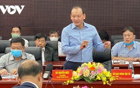 Ông Nguyễn Nhật- Thứ trưởng Bộ GTVT đề nghị nâng năng suất đón tàu cảng Liên Chiểu