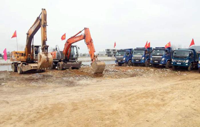 Lễ ra quân đầu năm tiểu dự án nạo vét, thoát lũ khẩn cấp sông Cổ Cò thuộc dự án khơi thông sông Cổ Cò.