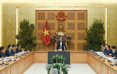 Thủ tướng Nguyễn Xuân Phúc phát biểu tại buổi làm việc.