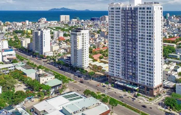 Khu căn hộ Hiyori Garden Tower tại địa chỉ Lô 2-A2 Võ Văn Kiệt, phường An Hải Đông, quận Sơn Trà.