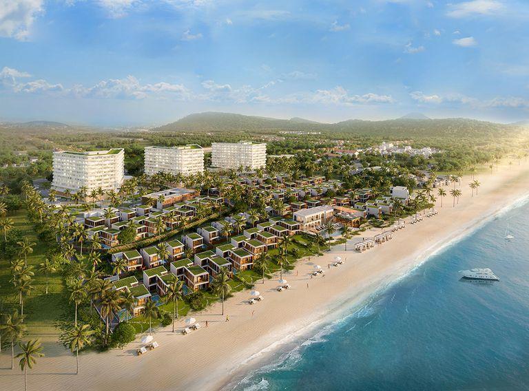 Shantira Beach Resort & Spa đã cất nóc hai tòa căn hộ và 69 căn biệt biển để kịp bàn giao cho khách tháng 9.2021, đón làn sóng nghỉ dưỡng, đầu tư