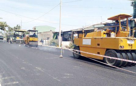 Thi công dự án nâng cấp, mở rộng tuyến ĐT608 nối dài, đoạn qua xã Điện Minh (Điện Bàn)