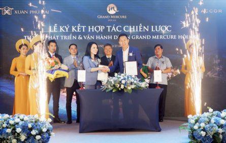 Lãnh đạo tỉnh chứng kiến lễ ký kết hợp tác chiến lược giữa Công ty CP Đầu tư và xây dựng Xuân Phú Hải với Tập đoàn Accor.