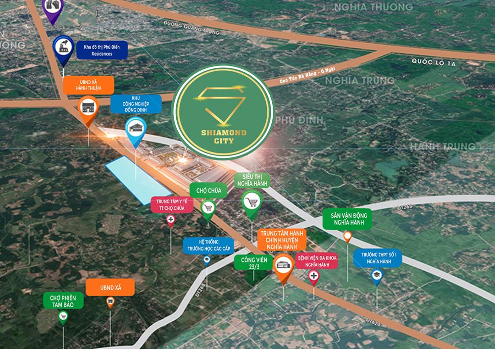Kết nối Shiamond City Quảng Ngãi