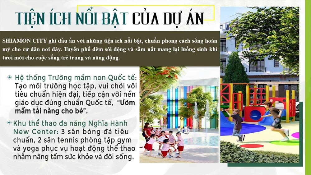 Tiện ích Shiamond City Quảng Ngãi
