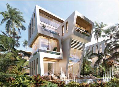 Các căn biệt thự sở hữu thiết kế độc đáo, đưa thiên nhiên vào từng không gian sống.