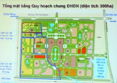 Dự án Đại học Đà Nẵng nằm ở Đà Nẵng và Quảng Nam.