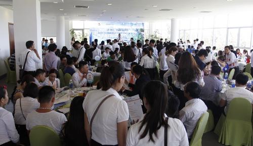 Tất cả lễ giới thiệu của Ngọc Dương Riverside đều thu hút hàng trăm khách hàng.