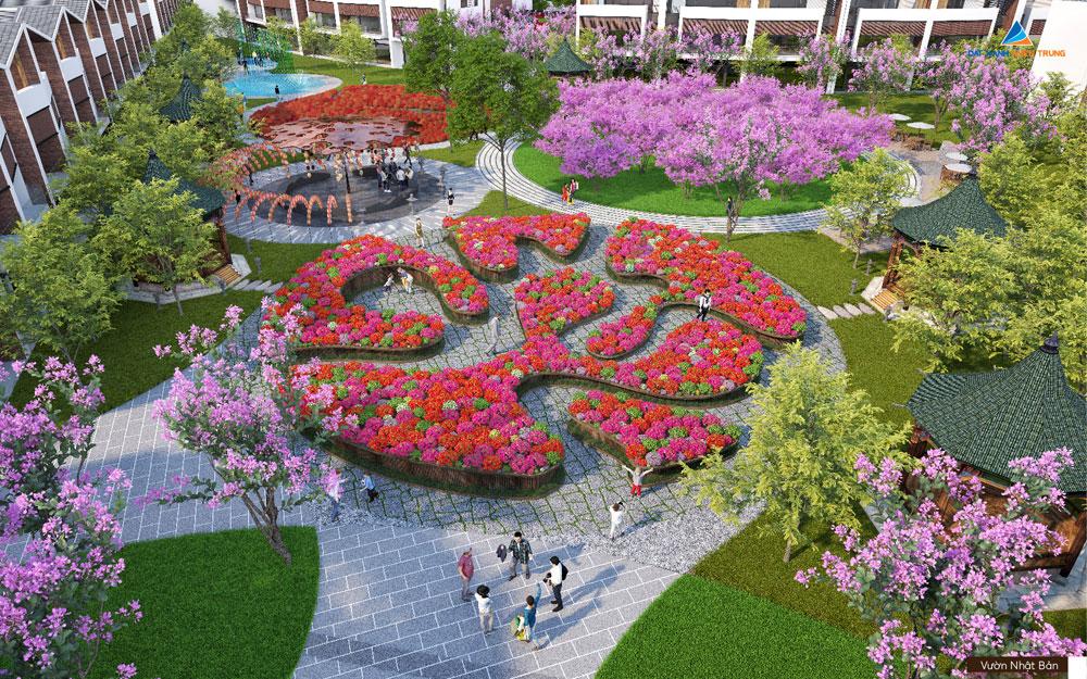 Vườn hoa Nhật bản tại Dragon Smart City