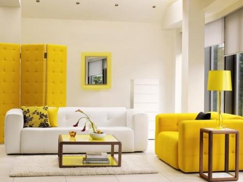 Tông màu tươi sáng và sử dụng một tông xuyên suốt cho nội thất