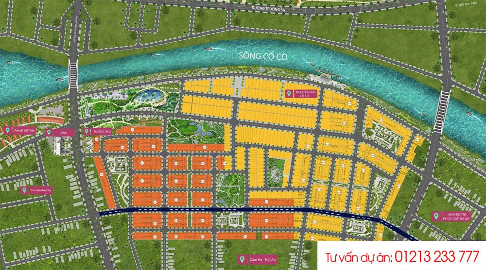 Sơ đồ phân lô Dự án River View Quảng Nam