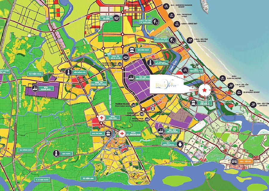 Vị trí Dự án River View Quảng Nam